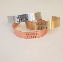 Branded Collective Metal Cuff Bracelet Made in USA