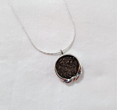 Fair Trade Sterling Silver and Druzy Quart Pendant from Israel