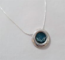 Fair Trade Sterling Silver and Roman Glass Pendant from Israel