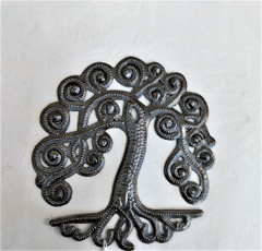 Fair Trade Recycled Steel Drum Tree of Life from Haiti