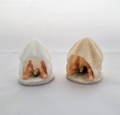 Fair Trade Hand Carved Alabaster Nativity from Peru