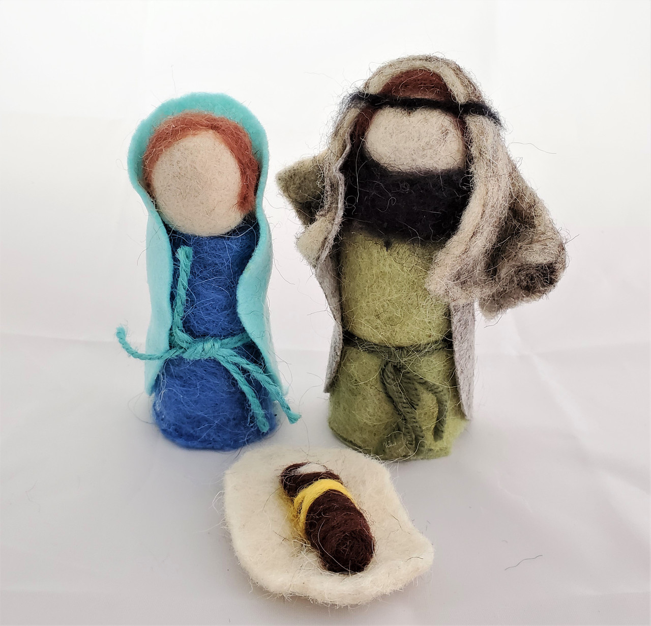 Felted Wool Three Piece Holy Family