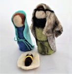 Fair Trade Felted Wool Nativity Set from West Bank