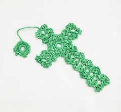 Fair Trade Crocheted Cross Bookmark Made by Syrian Women