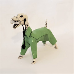 Fair Trade Retablo Day of the Dead Dog from Peru