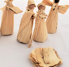 Fair Trade Corn Husk Nativity Set from Honduras