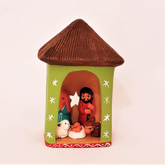 Fair Trade Hand Painted Ceramic Nativity from Peru
