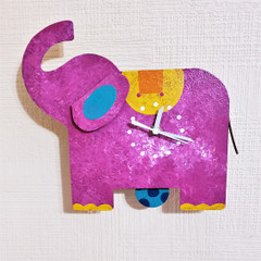 Fair Trade Recycled Metal Elephant Clock from Colombia