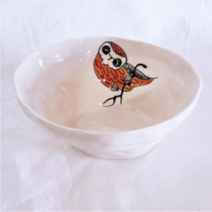 Fair Trade Ceramic Owl Bowl from Vietnam