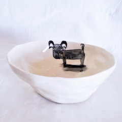 Fair Trade Ceramic Dog Bowl from Vietnam