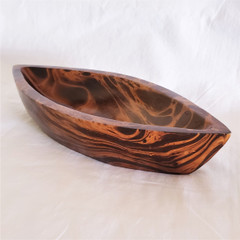 Fair Trade Mango Wood Small Boat Shaped Tray from Thailand