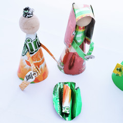 Fair Trade Recycled Soda Can Nativity Set from Honduras