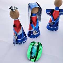 Fair Trade Recycled Soda Can Nativity from Honduras