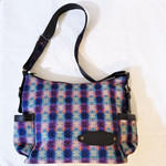 Fair Trade Woven Dhaka Fabric Purse with Leather Trim from Nepal
