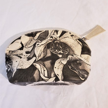 Fair Trade Cotton and Silk Screen Cosmetic Bag from Thailand