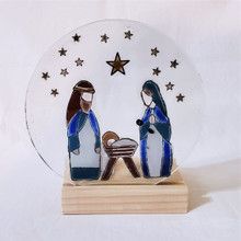 Fair Trade Recycled Glass Nativity from Chile