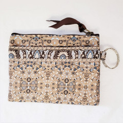 Fair Trade Fabric ID holder with Key Ring from Turkey