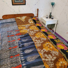 Fair Trade Cotton Kantha Quilt from India