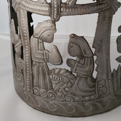 Fair Trade Recycled Steel Drum Nativity Set from Haiti