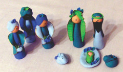 Fair Trade Flour Paste Nativity Set from Colombia