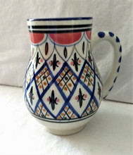 Fair Trade Hand Painted Ceramic Mug with Mosaic Pattern from Tunisia