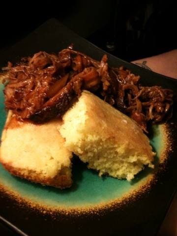 Cornbread and Pulled Pork BBQ