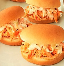 Easy Crockpot Buffalo Chicken Sliders