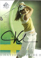CARIN KOCH AUTOGRAPHED GOLF CARD #100112i