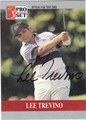 LEE TREVINO AUTOGRAPHED GOLF CARD #100212X