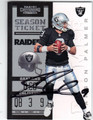 CARSON PALMER OAKLAND RAIDERS AUTOGRAPHED FOOTBALL CARD #100213F