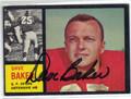 DAVE BAKER SAN FRANCISCO 49ers AUTOGRAPHED VINTAGE FOOTBALL CARD #100213L