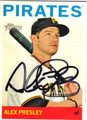 ALEX PRESLEY PITTSBURGH PIRATES AUTOGRAPHED BASEBALL CARD #100313A
