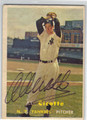 AL CICOTTE NEW YORK YANKEES AUTOGRAPHED VINTAGE ROOKIE BASEBALL CARD #100313F