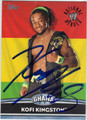 KOFI KINGSTON AUTOGRAPHED WRESTLING CARD #100412N