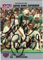 LARRY CSONKA MIAMI DOLPHINS AUTOGRAPHED FOOTBALL CARD #100512P