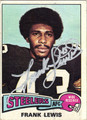 FRANK LEWIS AUTOGRAPHED VINTAGE FOOTBALL CARD #100612E