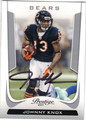 JOHNNY KNOX CHICAGO BEARS AUTOGRAPHED FOOTBALL CARD #100613J