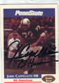 JOHN CAPPELLETTI PENN STATE NITTANY LIONS AUTOGRAPHED FOOTBALL CARD #100713A