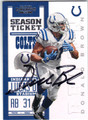 DONALD BROWN INDIANAPOLIS COLTS AUTOGRAPHED FOOTBALL CARD #100813G