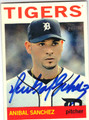 ANIBAL SANCHEZ DETROIT TIGERS AUTOGRAPHED BASEBALL CARD #100713D