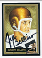 JOSEPH BELLINO AUTOGRAPHED FOOTBALL CARD #100710H