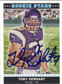 TOBY GERHART AUTOGRAPHED ROOKIE FOOTBALL CARD #101011M
