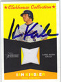 IAN KINSLER AUTOGRAPHED PIECE OF THE GAME BASEBALL CARD #101011P