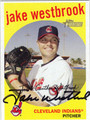 JAKE WESTBROOK AUTOGRAPHED BASEBALL CARD #101011T