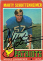MARTY SCHOTTENHEIMER AUTOGRAPHED VINTAGE ROOKIE FOOTBALL CARD #100911H