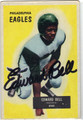 EDWARD BELL PHILADELPHIA EAGLES AUTOGRAPHED VINTAGE ROOKIE FOOTBALL CARD #10113J