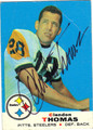 CLENDON THOMAS PITTSBURGH STEELERS AUTOGRAPHED VINTAGE FOOTBALL CARD #10114C