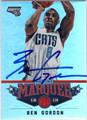 BEN GORDON CHARLOTTE BOBCATS AUTOGRAPHED BASKETBALL CARD #10114O