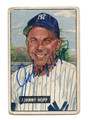 JOHNNY HOPP AUTOGRAPHED BASEBALL CARD #101310F