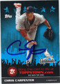 CHRIS CARPENTER AUTOGRAPHED BASBALL CARD #101511K